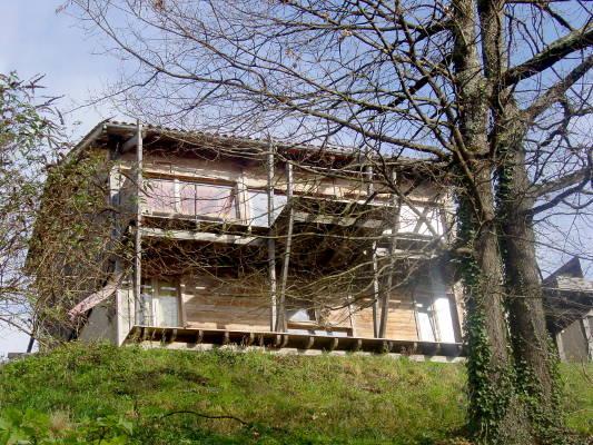 Maison bioclimatique en bois (poteauxpoutres) à vendre en  ~ Poutre Bois A Vendre