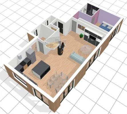 Maison quasi passive ossature bois vendre pr s de for Petite maison neuve