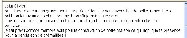 Annonces chantier participatif
