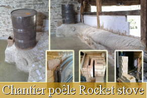 Stage auto-construction poêle Rocket Stove