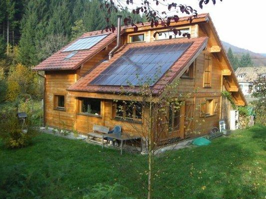 chalet bois fait maison